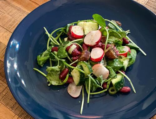 Lunchsalade met een vergeten groente